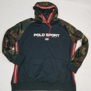 NWT Polo Ralph Lauren Camo Hoodie Size 2LT